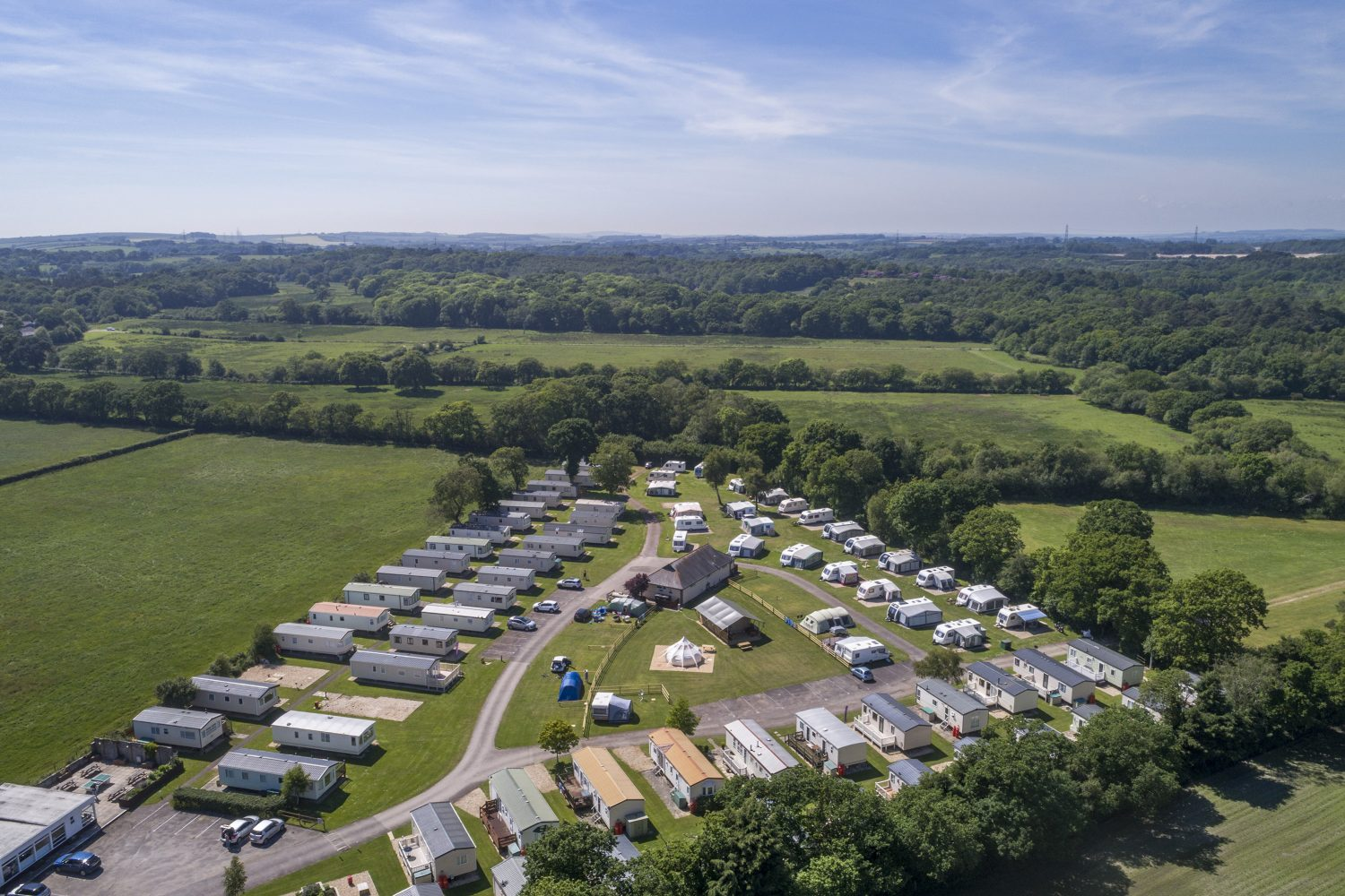 Aerial view of Sandyholme Holiday Park