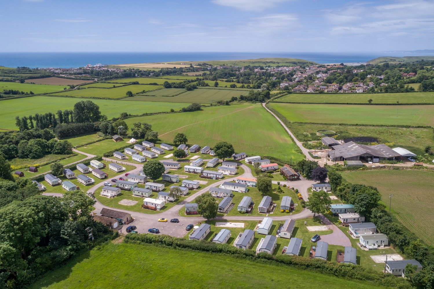 Aerial view of Graston Copse. Holiday Homes for Sale in Dorset