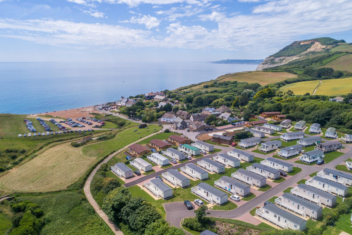 Golden Cap Holiday Park. A superb holiday home location.