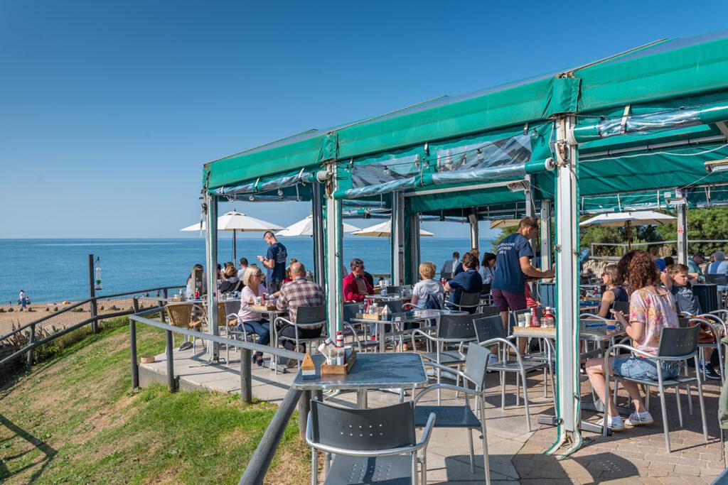 Hive Beach Cafe seafood restaurant on chesil beach