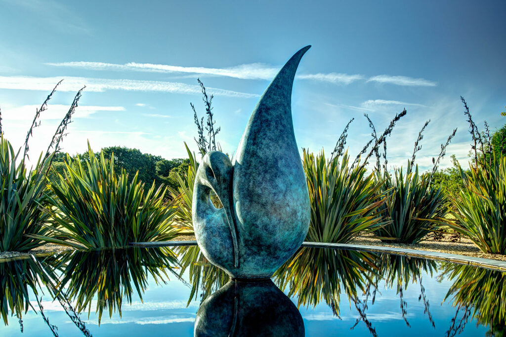 sculptures by the lakes